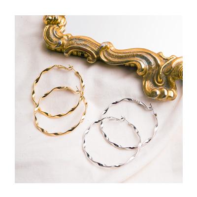 꽈배기 꼬임 링 귀걸이 - 아르뉴, 12,000원, 골드, 링귀걸이