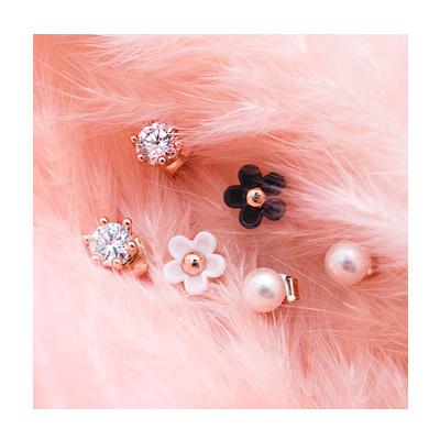 미니 플라워 귀걸이 - 아르뉴, 15,000원, 진주/원석, 볼귀걸이