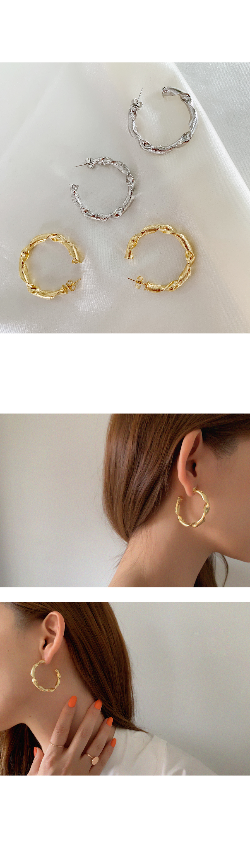 롤링 귀걸이 - 아르뉴, 17,900원, 골드, 링귀걸이