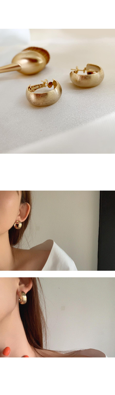 스지 볼드 링 원터치 귀걸이 - 아르뉴, 16,900원, 골드, 링귀걸이