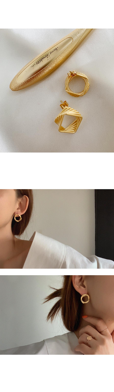 제오 메트릭 귀걸이 - 아르뉴, 17,900원, 골드, 드롭귀걸이