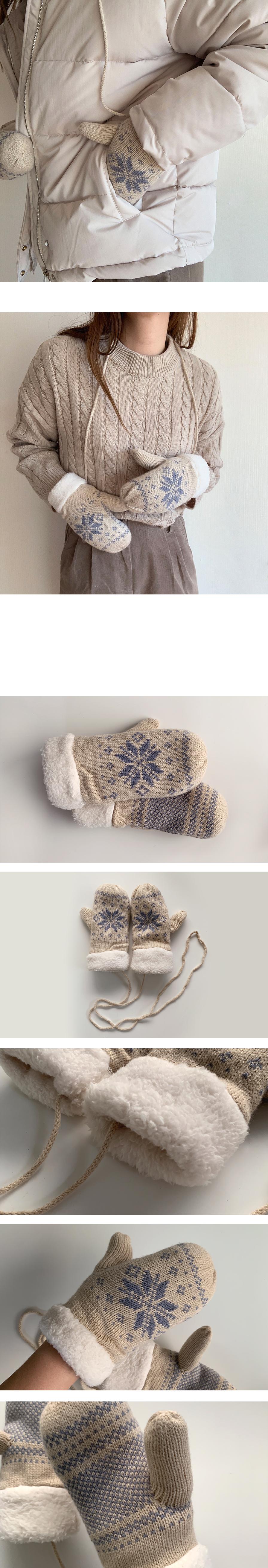 눈꽃 니트 벙어리 장갑 - (주)아르뉴, 11,810원, 장갑, 스마트폰장갑